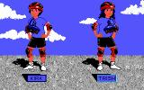 Rollerblade Racer DOS Choose a character (EGA)