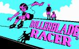Rollerblade Racer DOS Title screen (CGA)
