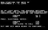 President Elect: 1988 Edition Commodore 64 Projections.