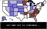 President Elect: 1988 Edition Commodore 64 Map of the USA.
