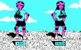 Rollerblade Racer DOS Character selection (CGA)