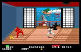 Ninja Arcade An idol sits in the corner