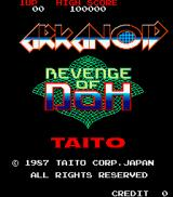 Arkanoid: Revenge of DOH Arcade Title screen