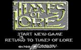 Times of Lore Commodore 64 title