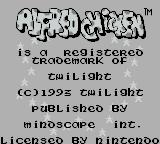 Alfred Chicken Game Boy Title