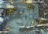 Metal Slug: Super Vehicle - 001 Arcade Snowy terrain