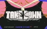 Take Down Commodore 64 Title Screen