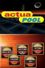 Actua Pool Nintendo DS Main menu.