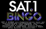 SAT.1 Bingo Commodore 64 Title Screen.