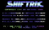 Shiftrix Commodore 64 Title Screen.
