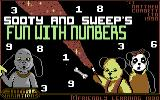 Sooty's Fun With Numbers Commodore 64 Title Screen.