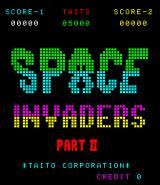 Space Invaders: Part II Arcade Title screen (Space Invaders: Part II)