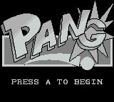 Pang Game Boy Title screen