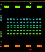 Space Invaders II Arcade Start of two player game