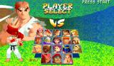 Street Fighter Alpha 2 Arcade Character select screen