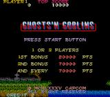 Ghosts 'N Goblins Arcade Title screen