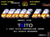 Chase H.Q. Arcade Title Screen.