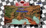 World Rally Championship Arcade Stage Map.