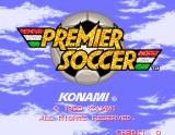 Premier Soccer Arcade Title Screen.