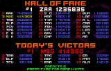 Strike Force Arcade Hall of fame