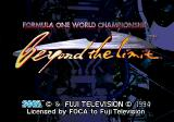 Formula One World Championship: Beyond the Limit SEGA CD Title Screen