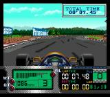 Formula One World Championship: Beyond the Limit SEGA CD Rounding an easy right-hander.
