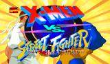 X-Men vs. Street Fighter Arcade Title screen