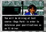 Formula One World Championship: Beyond the Limit SEGA CD There's a lot of boring dialog between races.