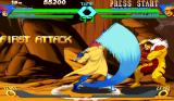 X-Men vs. Street Fighter Arcade Gambit uses stick to attakc