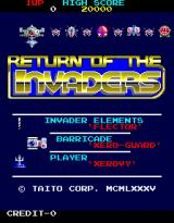 Return of the Invaders Arcade Title screen