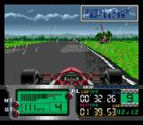 Formula One World Championship: Beyond the Limit SEGA CD Weather effects are simulated.