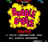 Bubble Bobble Arcade Title screen