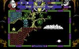Spellbound Dizzy Commodore 64 Leaping through the air, but can't quite reach that cloud...