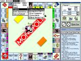 Monopoly Deluxe DOS Note Windows-like menus with keyboard shortcuts listed.