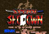 Samurai Shodown Arcade Title screen