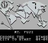 Pang Game Boy World map screen