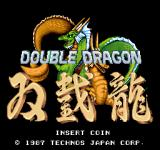Double Dragon Arcade Title Screen.