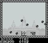 Pang Game Boy When hit you`re knocked off the screen