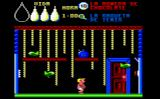 Herbert's Dummy Run Amstrad CPC A rope room.