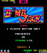 Bomb Jack Arcade Title Screen.