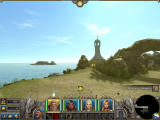 Might & Magic X: Legacy Windows Wilderness. Beautiful day, lighthouse ahead