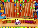 Putt-Putt and Pep's Balloon-o-Rama Windows A toy shop with several characters from other Humongous Entertainment games