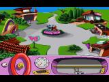 Putt-Putt Joins the Parade Windows 3.x The main town square.