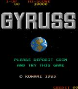 Gyruss Arcade Title screen