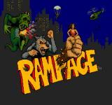 Rampage Arcade Title screen