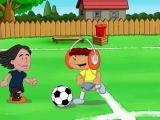 Backyard Soccer 2004 Windows In the introduction, we have Achmed kicking the ball down the field.