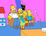 The Simpsons Arcade The whole family in front of TV