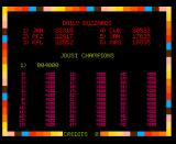 Joust Arcade Hi-score is empty
