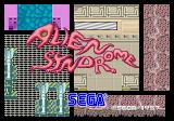 Alien Syndrome Arcade Title Screen.