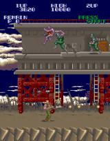 Super Contra Arcade Enemies of top of the building